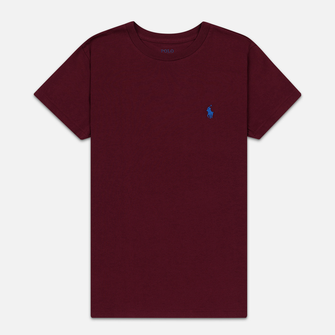 Женская футболка Polo Ralph Lauren Embroidered Logo 30/1 Cotton Jersey Classic Wine