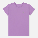 Женская футболка Polo Ralph Lauren Embroidered Logo 30/1 Cotton Jersey Club Purple фото- 0