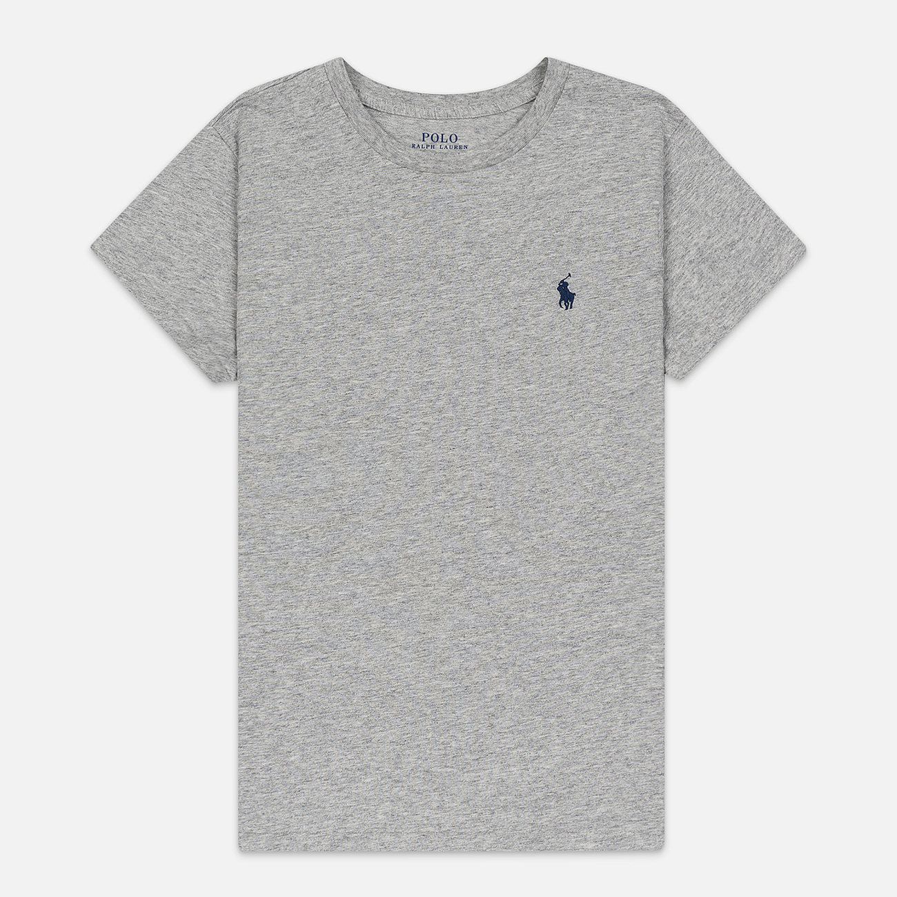 Женская футболка Polo Ralph Lauren Embroidered Logo 30/1 Cotton Jersey Cobblestone Heather