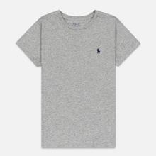 Женская футболка Polo Ralph Lauren Embroidered Logo 30/1 Cotton Jersey Cobblestone Heather фото- 0