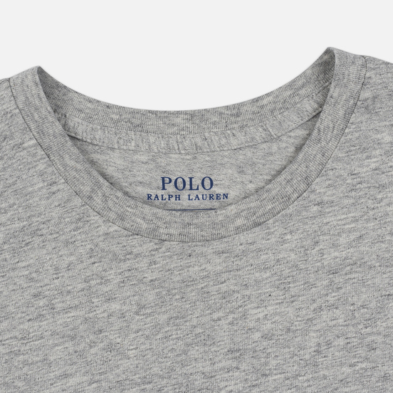 Женская футболка Polo Ralph Lauren Embroidered Logo 30/1 Cotton Jersey Cobblestone Heather
