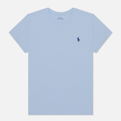 Женская футболка Polo Ralph Lauren Embroidered Logo 30/1 Cotton Jersey Elite Blue