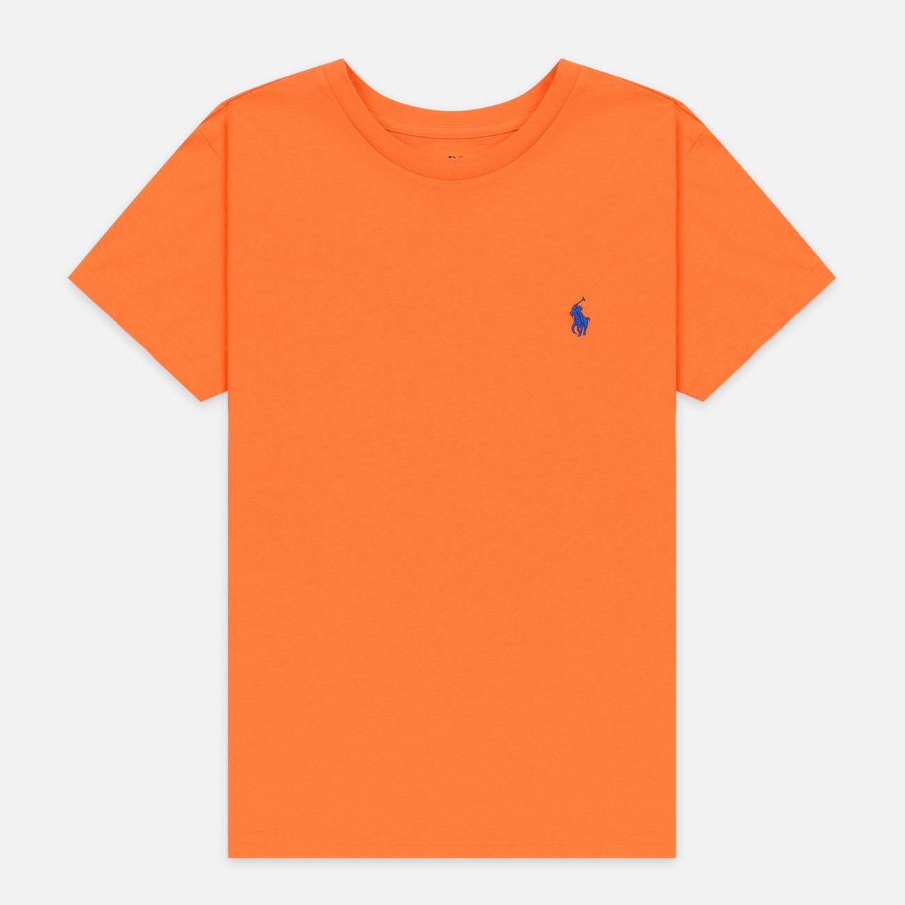 Женская футболка Polo Ralph Lauren Embroidered Logo 30/1 Cotton Jersey Fiesta Orange