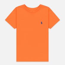 Женская футболка Polo Ralph Lauren Embroidered Logo 30/1 Cotton Jersey Fiesta Orange фото- 0