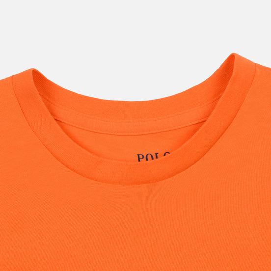 Женская футболка Polo Ralph Lauren Embroidered Logo 30/1 Cotton Jersey Fiesta Orange