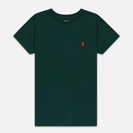 Женская футболка Polo Ralph Lauren Embroidered Logo 30/1 Cotton Jersey Hunt Club Green