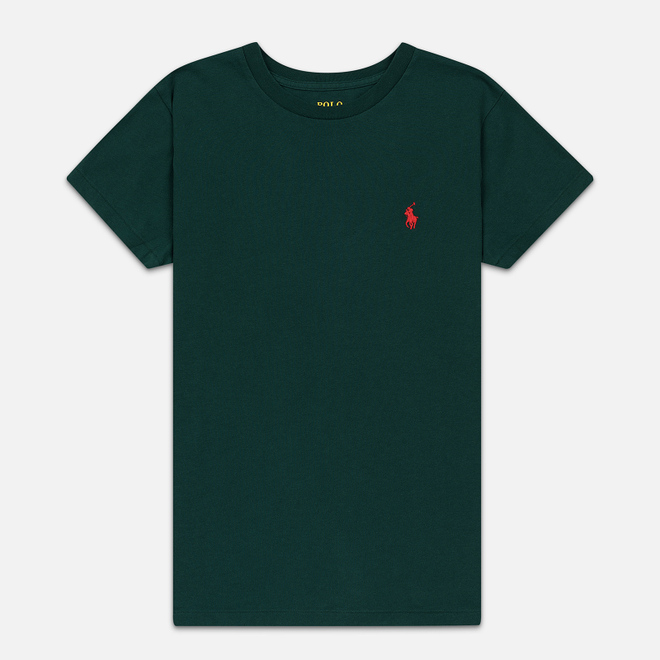 Женская футболка Polo Ralph Lauren Embroidered Logo 30/1 Cotton Jersey Hunt Club Green