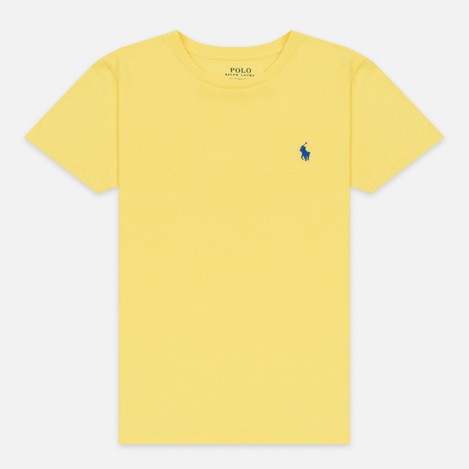 Женская футболка Polo Ralph Lauren Embroidered Logo 30/1 Cotton Jersey Lemon Crush