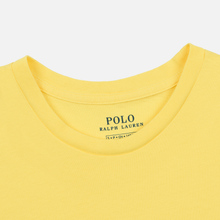 Женская футболка Polo Ralph Lauren Embroidered Logo 30/1 Cotton Jersey Lemon Crush фото- 1