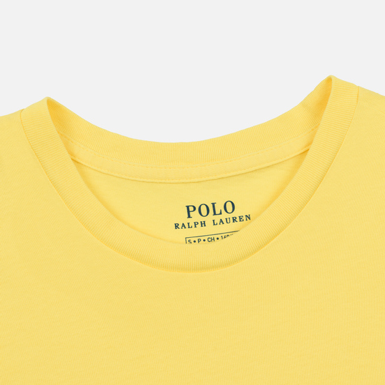 Женская футболка Polo Ralph Lauren Embroidered Logo 30/1 Cotton Jersey Lemon Crush
