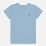 Женская футболка Polo Ralph Lauren Embroidered Logo 30/1 Cotton Jersey Powder Blue фото- 0