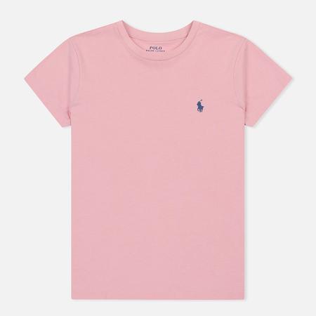 Женская футболка Polo Ralph Lauren Embroidered Logo 30/1 Cotton Jersey Resort Pink