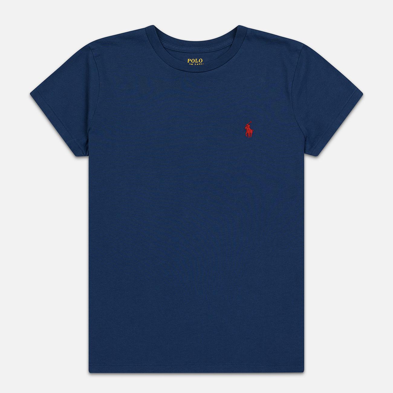 Женская футболка Polo Ralph Lauren Embroidered Logo 30/1 Cotton Jersey Rustic Navy