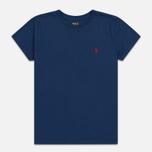 Женская футболка Polo Ralph Lauren Embroidered Logo 30/1 Cotton Jersey Rustic Navy фото- 0