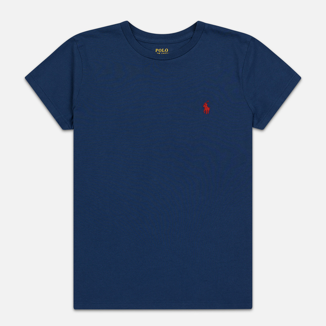 Женская футболка Polo Ralph Lauren Embroidered Logo 30/1 Cotton Jersey Rustic Navy