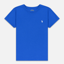 Женская футболка Polo Ralph Lauren Embroidered Logo 30/1 Cotton Jersey Spa Royal фото- 0