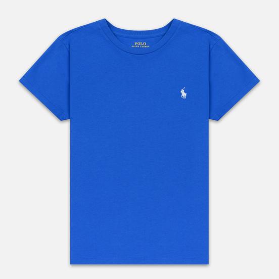 Женская футболка Polo Ralph Lauren Embroidered Logo 30/1 Cotton Jersey Spa Royal