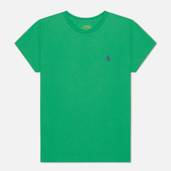 Женская футболка Polo Ralph Lauren Embroidered Logo 30/1 Cotton Jersey Tiller Green