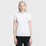 Женская футболка Polo Ralph Lauren Embroidered Logo 30/1 Cotton Jersey White фото- 1