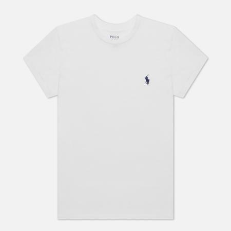 Женская футболка Polo Ralph Lauren Embroidered Logo 30/1 Cotton Jersey White