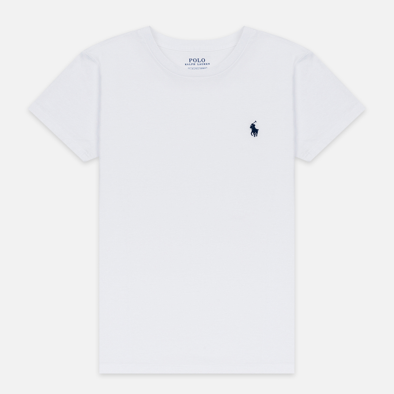 Женская футболка Polo Ralph Lauren Embroidered Logo 30/1 Cotton Jersey White