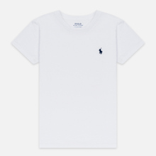 Женская футболка Polo Ralph Lauren Embroidered Logo 30/1 Cotton Jersey White фото- 0