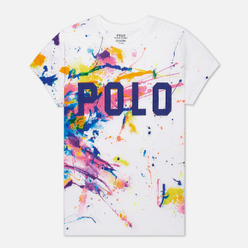 Женская футболка Polo Ralph Lauren Paint Slpatter Polo 30/1 Cotton Jersey Multicolor