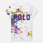 Женская футболка Polo Ralph Lauren Paint Slpatter Polo 30/1 Cotton Jersey Multicolor фото - 0