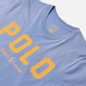 Женская футболка Polo Ralph Lauren Polo Printed 30/1 Cotton Jersey Dress Shirt Blue фото - 1