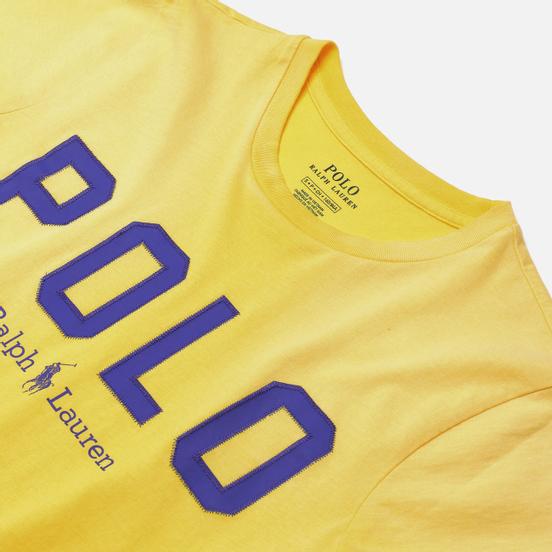 Женская футболка Polo Ralph Lauren Polo Printed 30/1 Cotton Jersey Lemon Crush