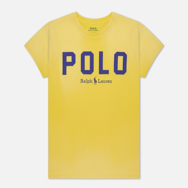 Женская футболка Polo Ralph Lauren Polo Printed 30/1 Cotton Jersey Lemon Crush
