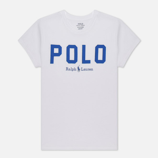 Женская футболка Polo Ralph Lauren Polo Printed 30/1 Cotton Jersey White