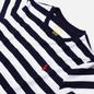 Женская футболка Polo Ralph Lauren Stripe Polo Pony Mini Logo Cruise Navy/White фото - 1