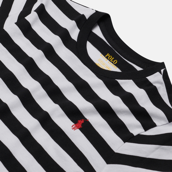 Женская футболка Polo Ralph Lauren Striped Cotton Jersey White/Black