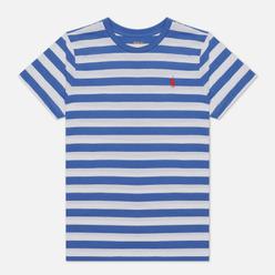 Женская футболка Polo Ralph Lauren Striped Cotton Jersey White/Indigo Sky