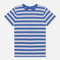 Женская футболка Polo Ralph Lauren Striped Cotton Jersey White/Indigo Sky фото - 0