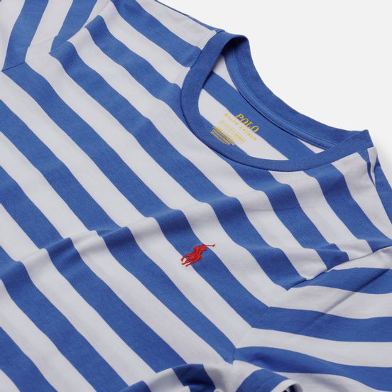 Женская футболка Polo Ralph Lauren Striped Cotton Jersey White/Indigo Sky