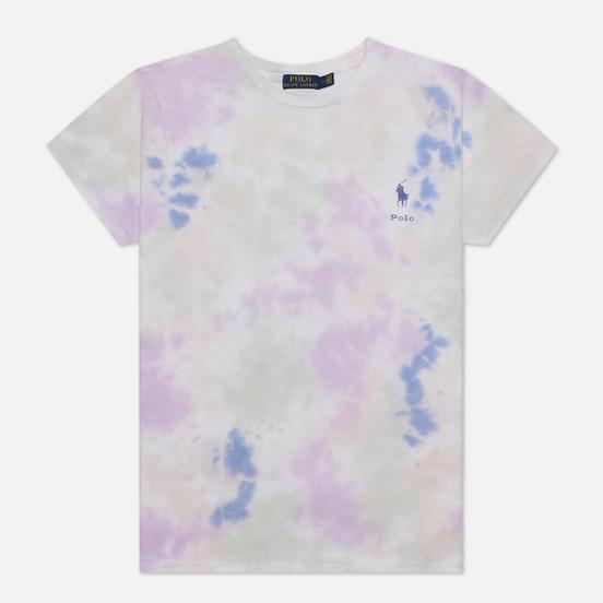 Женская футболка Polo Ralph Lauren Tie-Dye Jersey Pastel Paintsplatter