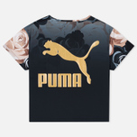 Puma x Careaux Logo Flower AOP Women's T-shirt Black photo- 2