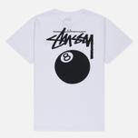 Женская футболка Stussy 8 Ball Boyfriend White фото- 3