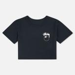 Женская футболка Stussy 8 Ball Classic Cropped Black фото- 0