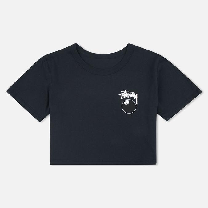 Женская футболка Stussy 8 Ball Classic Cropped Black