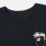 Женская футболка Stussy 8 Ball Classic Cropped Black фото- 1