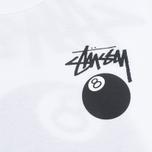 Женская футболка Stussy 8 Ball Classic Cropped White фото- 2