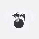 Женская футболка Stussy 8 Ball Classic Cropped White фото- 4