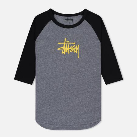 Женская футболка Stussy Basic 3/4 Raglan Grey Heather