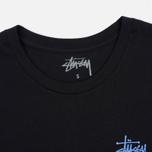 Женская футболка Stussy Basic Cuff Black фото- 1