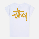 Stussy Basic Cuff Women's T-Shirt White photo- 3