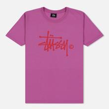 Женская футболка Stussy Basic Logo Berry фото- 0