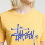 Женская футболка Stussy Basic Logo Orange фото- 3